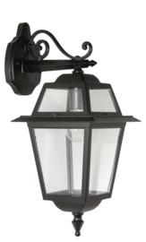 Buitenlamp wand 50cm serie Perla zwart nr: 131