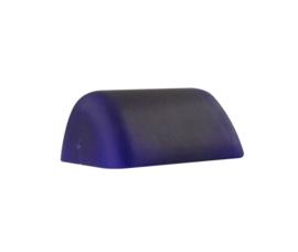 Mondgeblazen buroglas notaris bankierslamp mat donker blauw nr 420.40