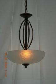 Bronskleurige schaallamp 2-lichts nr:20384/2