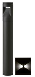 Buitenlamp mast Lako h-40cm 2 zijden licht LED 7W antraciet nr 409.040/2