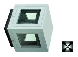 Gevelspot pro 4 zijden licht CDMT 35W Alu grafiet nr 10-321021