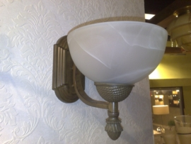 Antiek bruin gekleurde wandlamp 1-lichts nr:20332/1