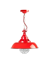Industrieel vormgegeven lamp rood E27 model Consenza nr 05-HL4228-32