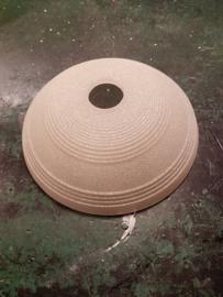 Glazen kap schaal model Scavo ribbel d25cm gesuikerd E27 nr 10021