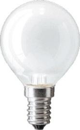 Osram kogellamp 60W E14 MAT nr: 15-260114 (verkocht per duo pak)