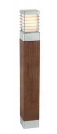 Buitenlamp serie Selham staand 85cm hout/gegalvaniseerd nr: 3066