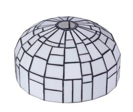 Tiffany kap iglo wit d35cm h19cm E27 gt4,4 nr TK-AD Gph3
