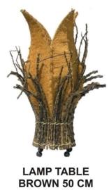 Kokoslamp terra kern is van kokosbast en takken rondom h-50cm