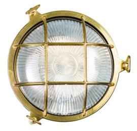 Buitenlamp wand patrijspoort Maritiem messing h-12cm d-18cm nr 232014-32