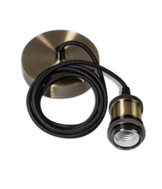Classic snoerpendel 1,5 meter kabel katoen 1x E27 brons nr 05-p9941-02