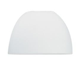 Glazen kap koepel d35cm h22cm gt11,7cm mat opaal nr 3400.39