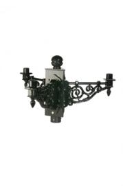 Buitenlamp kopstuk 3-lichts voor mast ant. groen serie Nuova nr: 1573
