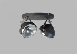 Plafondspot Head 2L h20cm zwart chrome nr 05-SP4250-1130