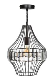Hanglamp Showmodel sparkle large d31cm en h130cm metaal en glas E27 nr 05-HL4496-43S