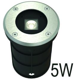 Buitenspot grond RVS 5W LED dia-11cm nr 10-355742