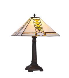 Tiffany tafellamp Piramide 37x37cm E27 60w nr P-AD- T3