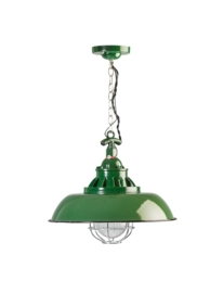 Industrieel vormgegeven lamp groen E27 model Consenza nr 05-HL4228-33