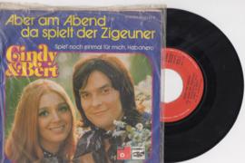 Cindy & Bert met Aber am Abend 1974 Single nr S20205