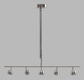 Hanglamp Globo 5L br110cm staalkleur nr 05-HL4106-17