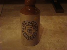 Engels stenen ginger bierfles B.Chapman&Co Sheffield