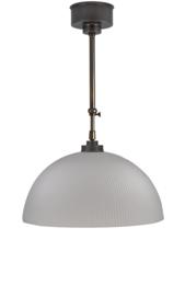 Schuifstang 2x50cm brons kleur mat witte koepelkap 40 nr 2Sb-541.16
