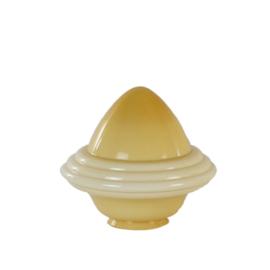 Glazen kap bolvormig model oliepot groot (3) nr: 300.50 champagne