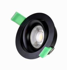 Inbouwspot GU10 max 50w kantelbaar zwart dia 85mm h25mm nr 05-1190-30