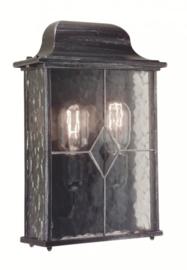 Buitenlamp wand serie Wexford ALU zwart/zilver nr 2088