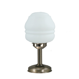 Tafellamp strak mat nikkel bs20 h36cm Torso bol opaal nr 7Tu-457.00