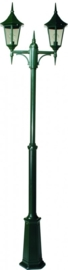 Buitenlamp mast h-184/273 2-lichts serie Tessaro ALU zwart nr: 3035