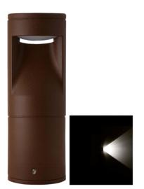 Buitenlamp sokkel Lako h-18cm 1 zijde licht LED 7W roestbruin nr 409.018/1-14