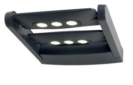 Buitenlamp wand langwerpig serie Cylin h 5cm grafiet nr 31-6144S2