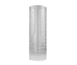Glazen kap cilinder gekerfd motief d12,4cm h37cm 3pins helder nr 1257.55