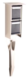Prik stopcontact voor buiten RVS IP55 230V 2jr garantie nr 10-10140