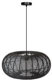 Hanglamp showmodel Cosmo rope d50cm h110cm zwart touw 1xE27 nr 05-HL4466-50-30S