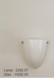 Wandlamp druppel S. met ophanging opaal glas nr 2292.07 + h292.00