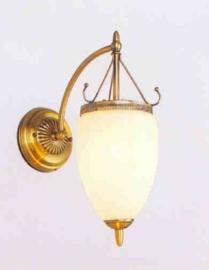 Retro wandlamp met druppelvormig glas nr:20363/1a