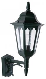 Buitenlamp wand up serie Hexagon 2 kleuren leverbaar nr: 14020