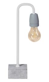 Tafellamp Concrete boog  wit/grijs E27 h35cm nr 05-TL3244-31