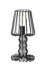 Tafellamp model Wire zwart h-36,5cm d-18cm E27 nr 05-TL3303-30