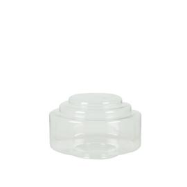 Glazen bol model trapkap small d-25cm helder doorzichtig nr: 425.55