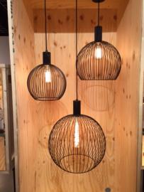 Hanglamp model Wire d-30cm zwart h-155cm E27 nr 05-HL4445-30