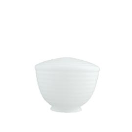 Glazen bol model Rib 25 opaal wit d-25cm h-18cm gr-12,7cm nr 464.00