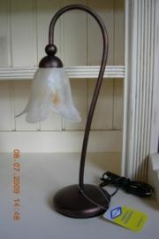 "Italiaanse tafellamp model vraagteken kleur ""ramato"""