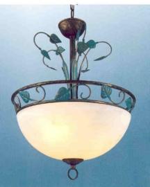 Bronskleurige hanglamp 3-lichts nr:20338/3
