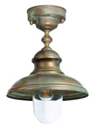 Buitenlamp plafond Maritiem h-31cm d-25cm verkoperd messing nr 233352