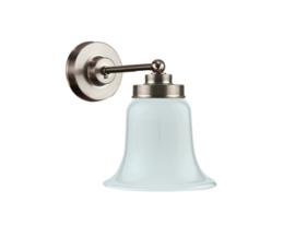 Wandlamp wand mini mat nikkel met opaal kapje model Klokje 14 nr 7WM-311.00