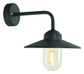 Buitenlamp wand haaks zwart uit de serie Selva nr: 1355