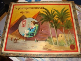 Oud bordspel`` De Postzegelverzamelaar op reis``VERKOCHT