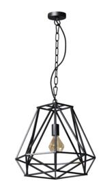 Hanglamp model Hope mat zwart d46cm h150cm E27 nr 05-HL4439-30